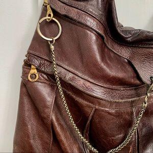 BARNEY'S leather shouder bag